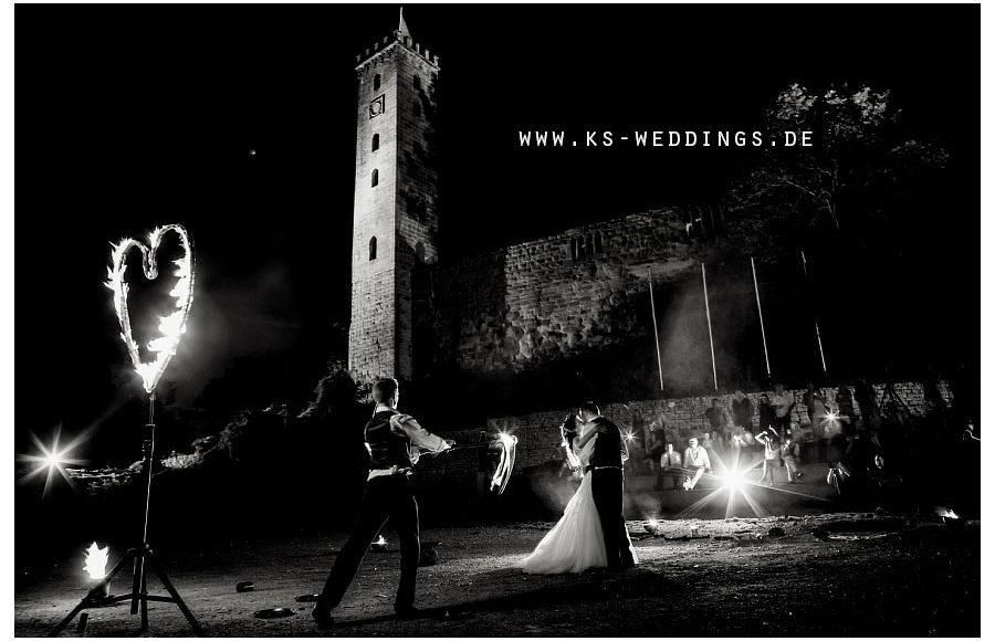 Hochzeit Feuershow Burg Abenberg
