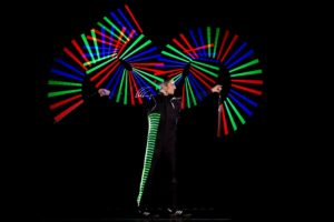 feuershow led lichtshow Regensburg