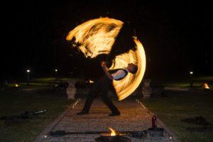 Feuerperformance für Hochzeit