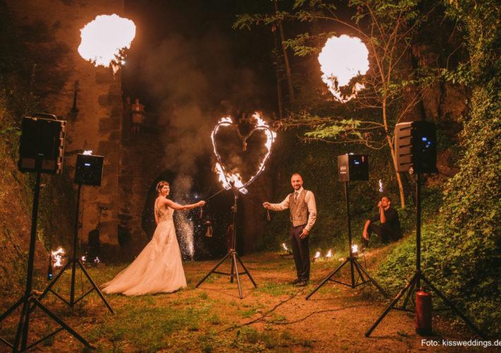 Feuerherz Hochzeit Burg