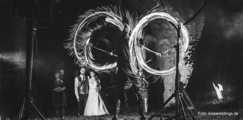 Feuershow Hochzeit Burg